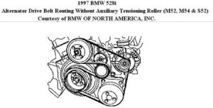 Need Fan Belt Routing for 1997 BMW 528i