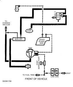 1997 Mercury Sable Vaccum Diagram: Motor Is Not Idleing