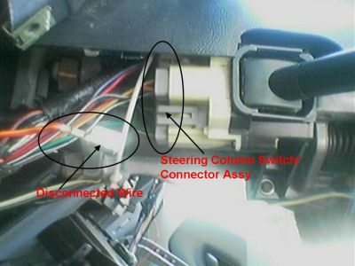 Ford Ranger Steering Column Switch Connnector