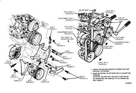 Ford Crown Victoria Drive Belt Change Noises Problem