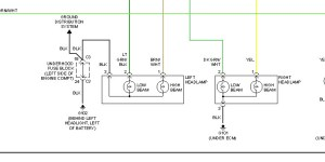 2008 Pontiac Wave Front Headlight Plug: Diagram of Wiring
