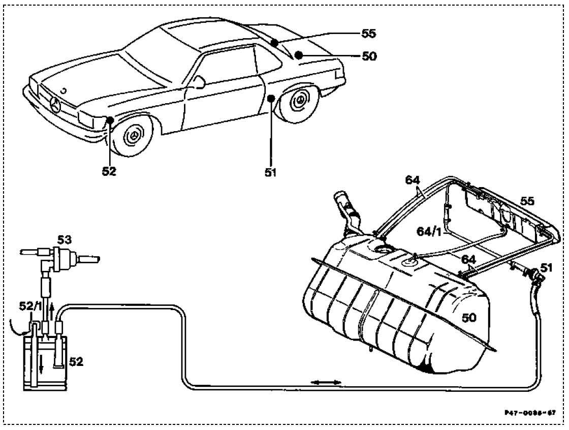 450sl Engine Diagram Vacuum