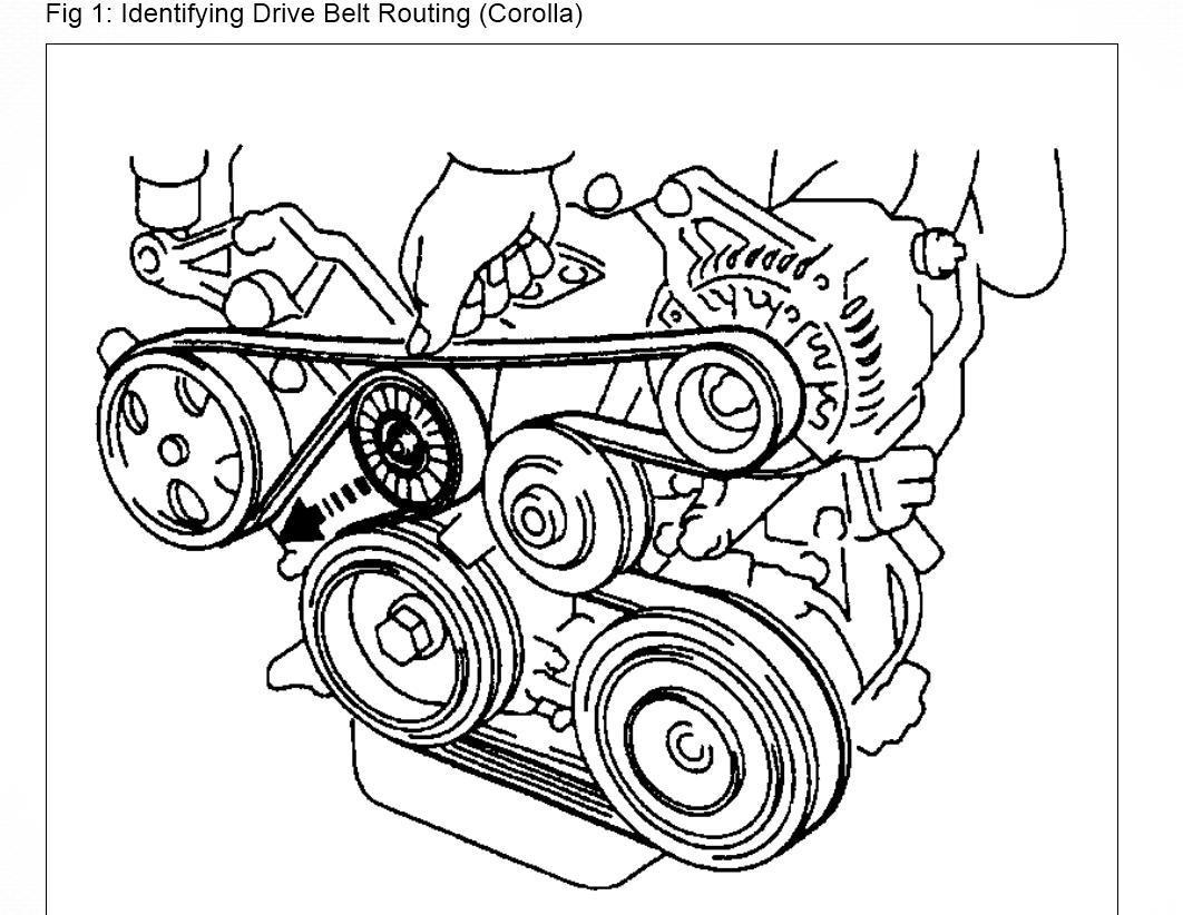 Toyota Corolla 99 Toyota Corolla Conquest Drive Belt