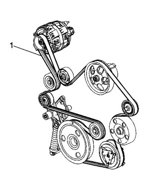 Fine the Tensioner for the Serpentine Belt