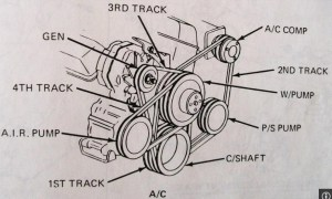 1984 Chevrolet Van Drivebelt Diagram, W 3 Drivebelts