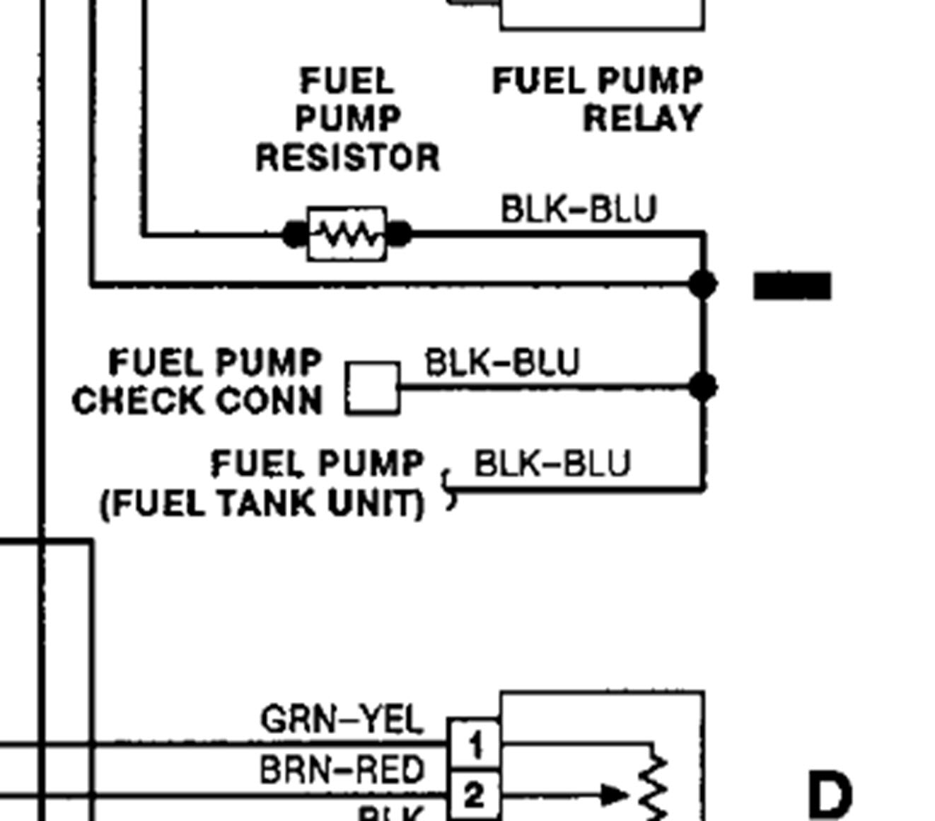 Location Of Fuel Pump Sending Unit Wires