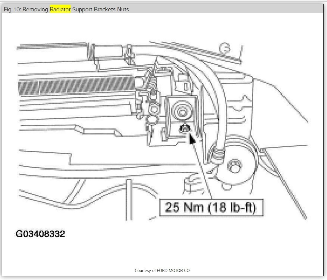 02 Ford Radiator Replacement Diagram