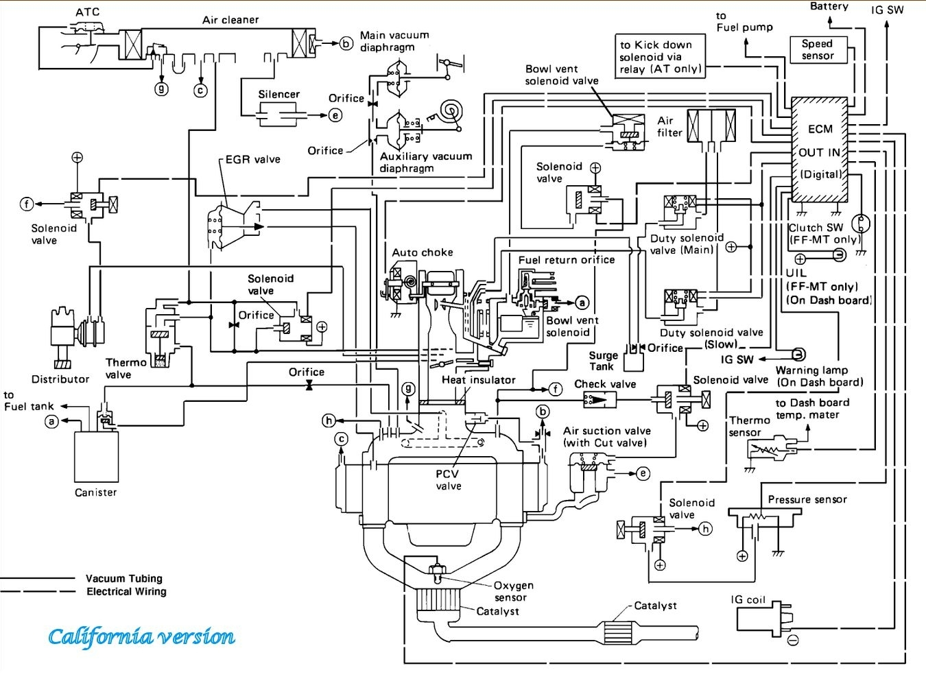 Vacuum Hose Diagram I Have The Car Listed Above And I Got