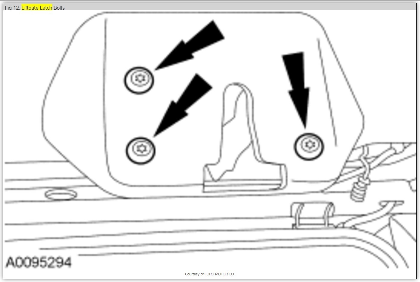 Lift Gate Will Not Open The Rear Liftgate Will Not Open