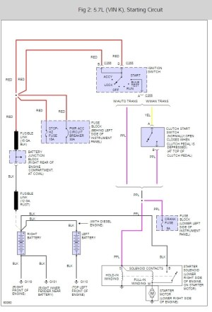 Location of Starter Relay: Schematic Shows Relay in Engine