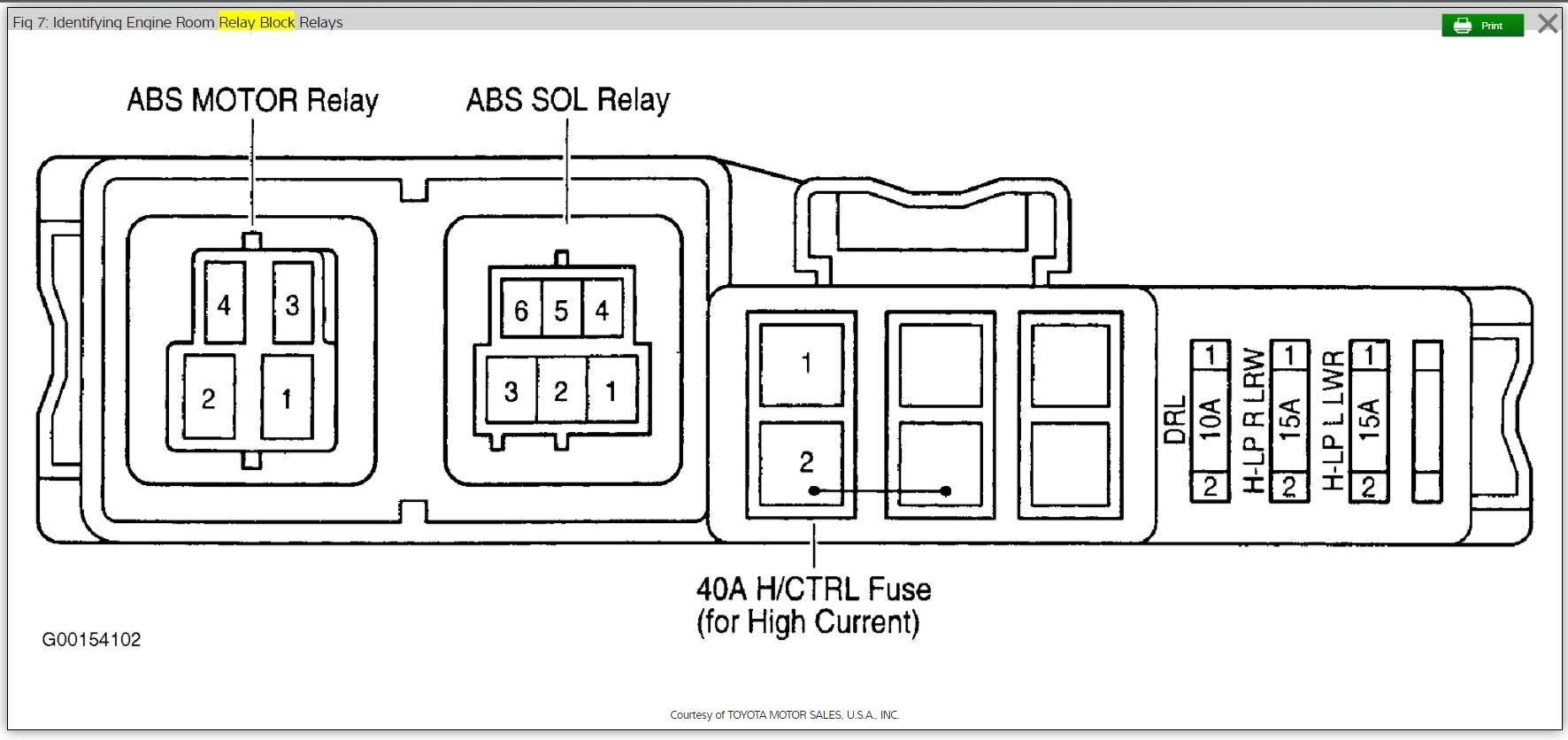 A C Relay Location Need To Replace A C Fan Relay Which