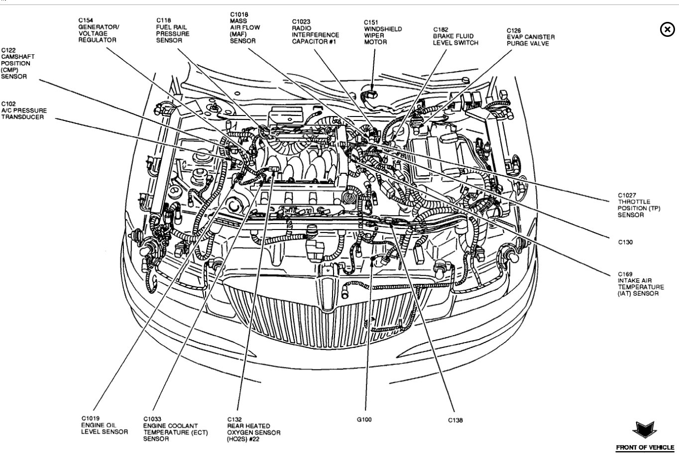 Cam Position Sensor Location Transmission Problem V8