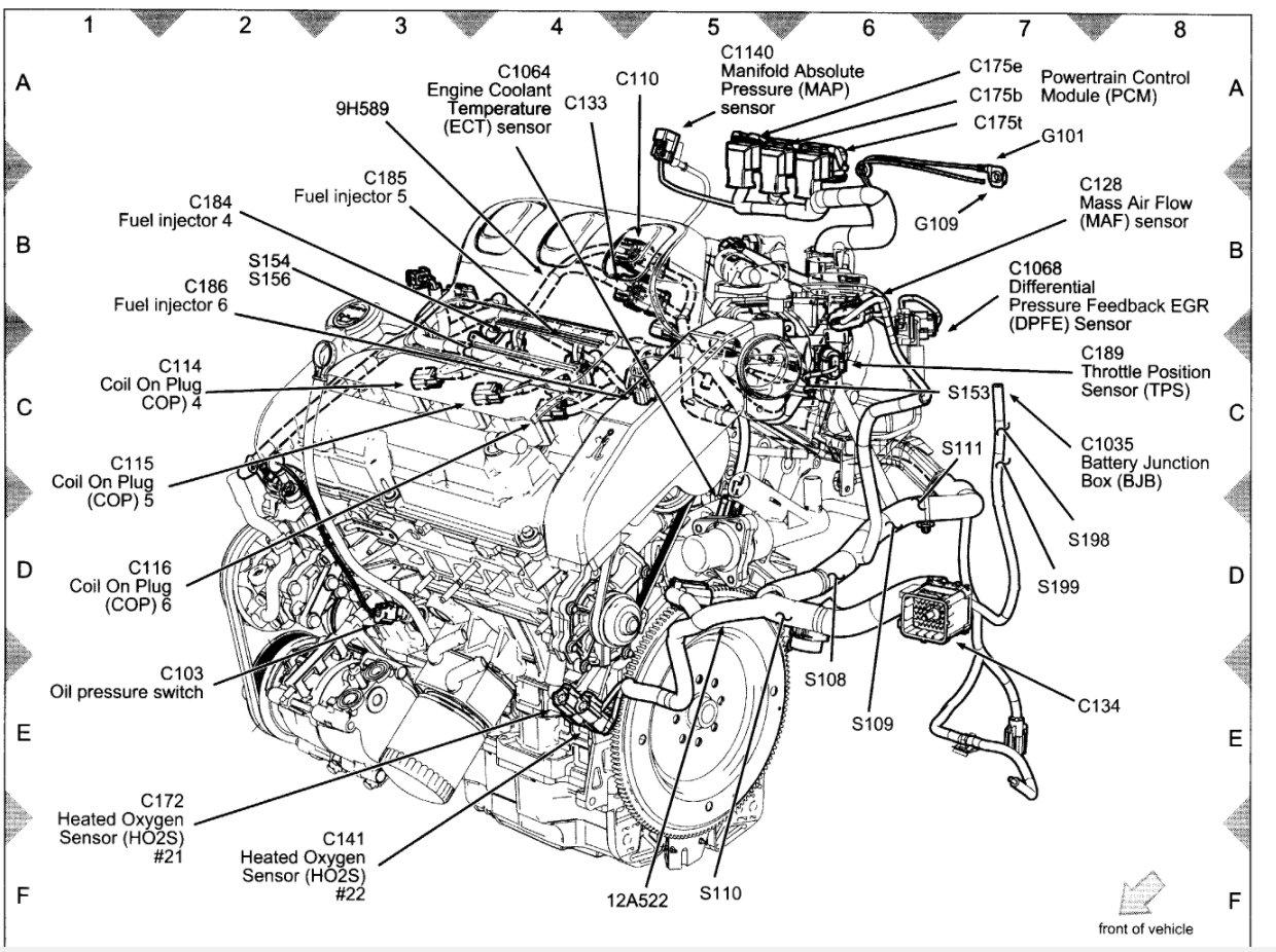 Ford 3 5 V6 Engine Exploded View