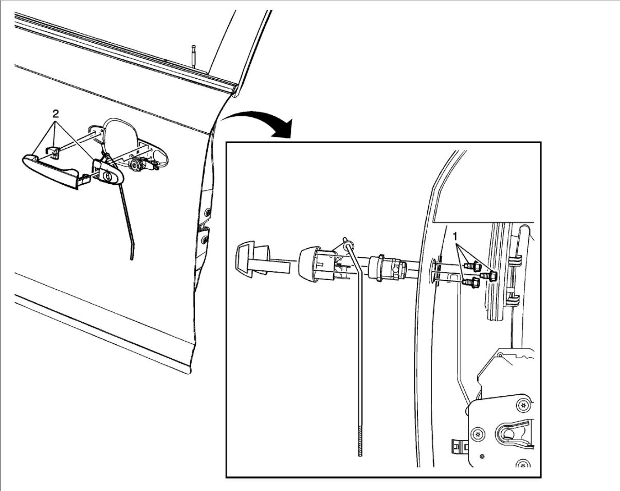 Exterior Door Handle Replacement The Exterior Door Handle