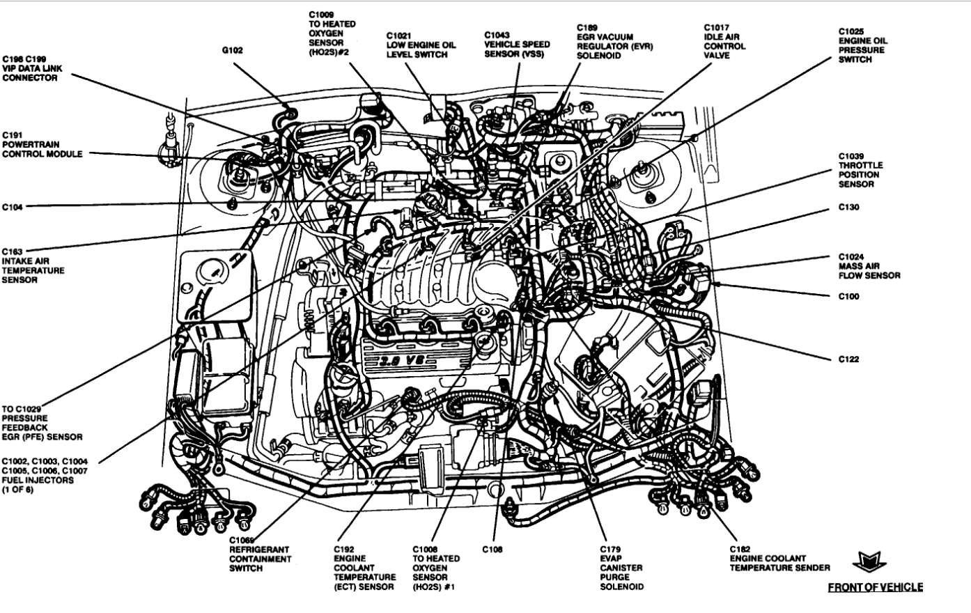 Ford Taurus O2 Sensor Diagram
