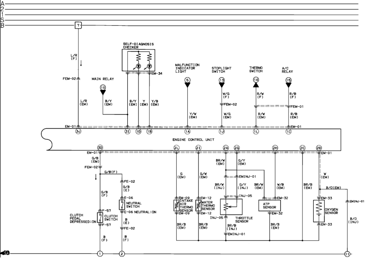 Mazda B Starter Wiring Diagram Mazda Wiring