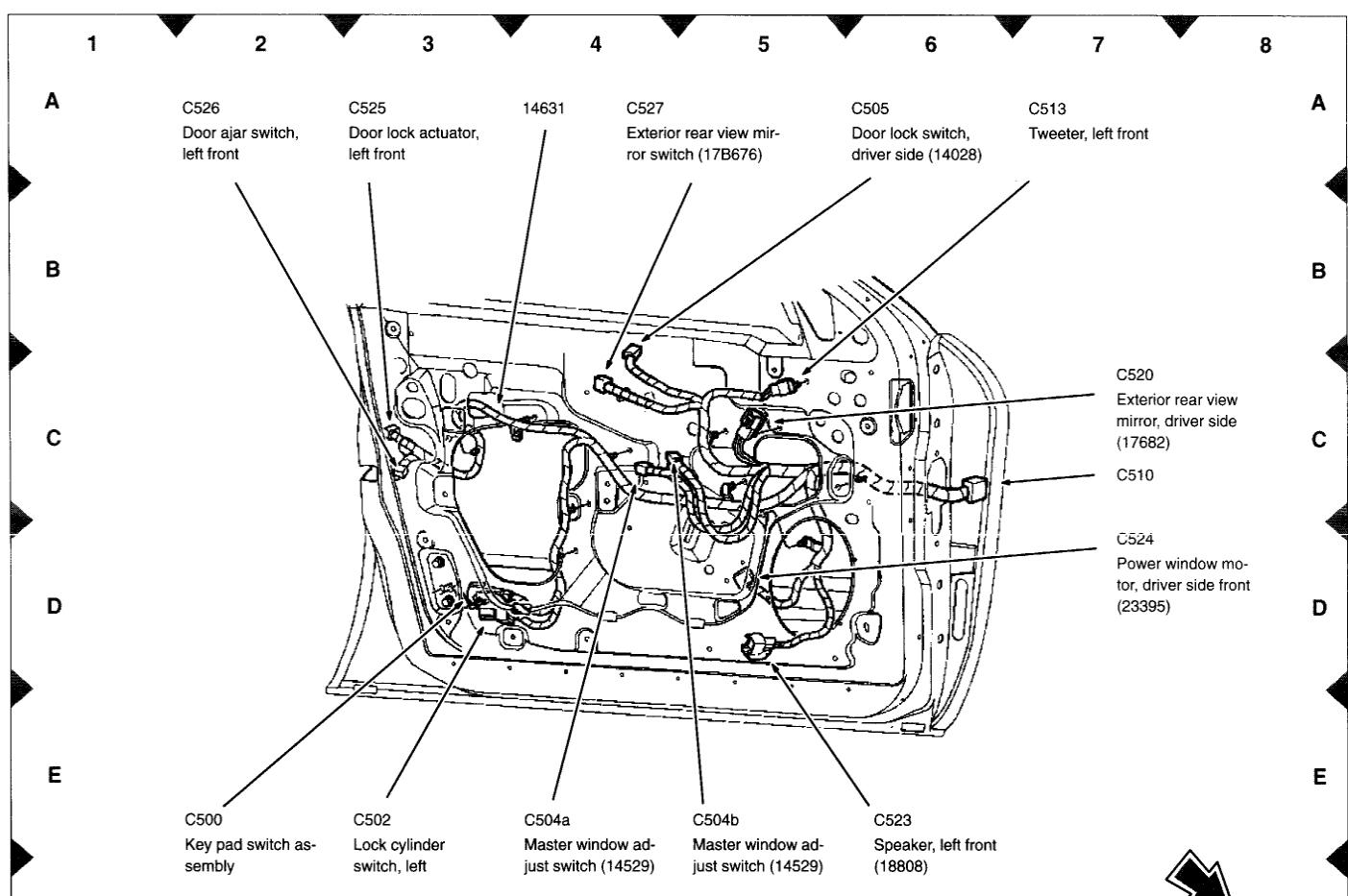 Mercury Sable Window Wiring Diagram