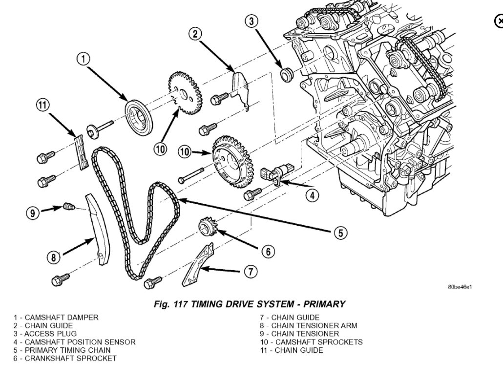 Service Manual Chrysler Sebring Timing Chain