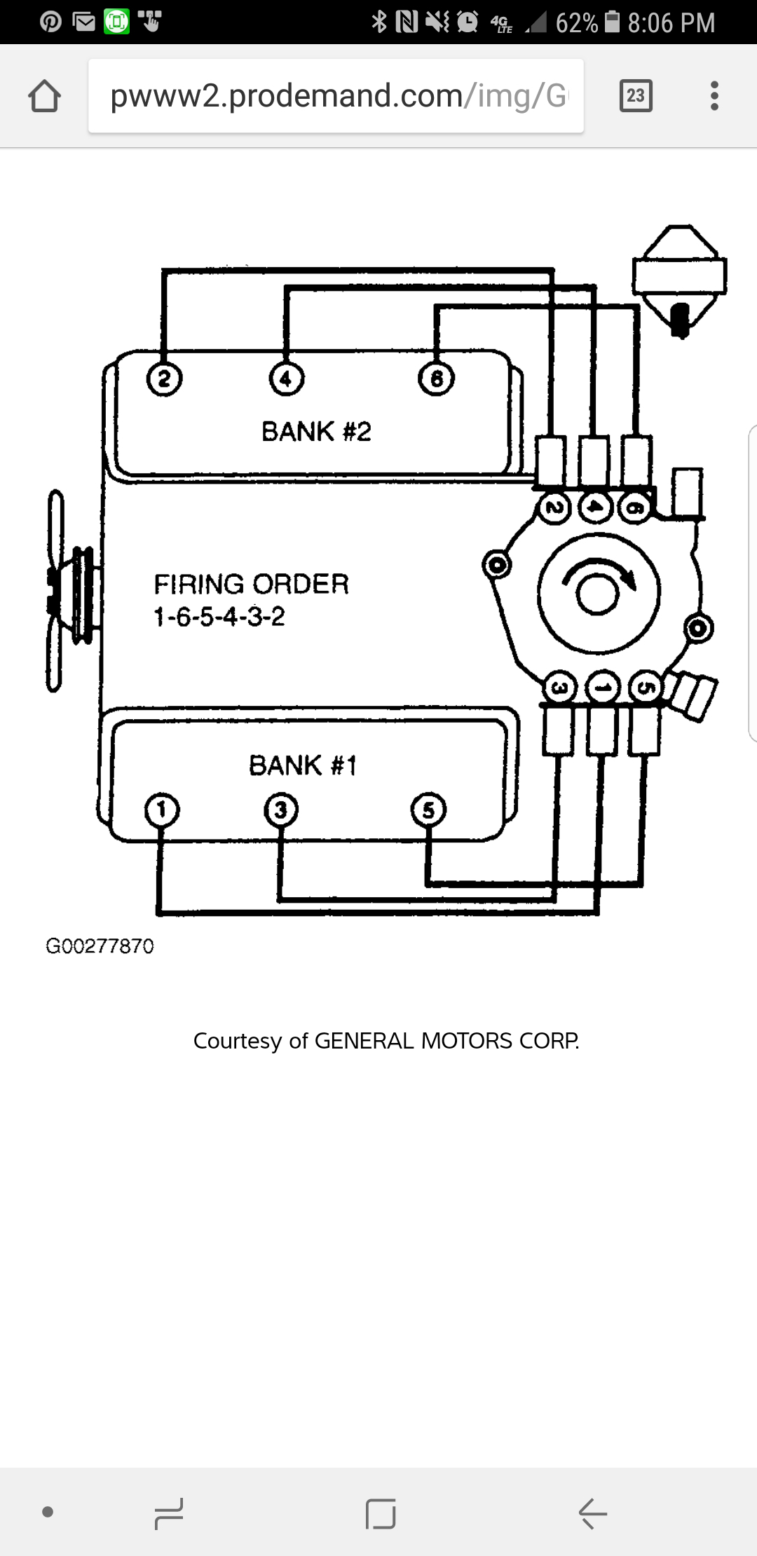Plug Wire Diagram Wire Location From Distributor Cap To