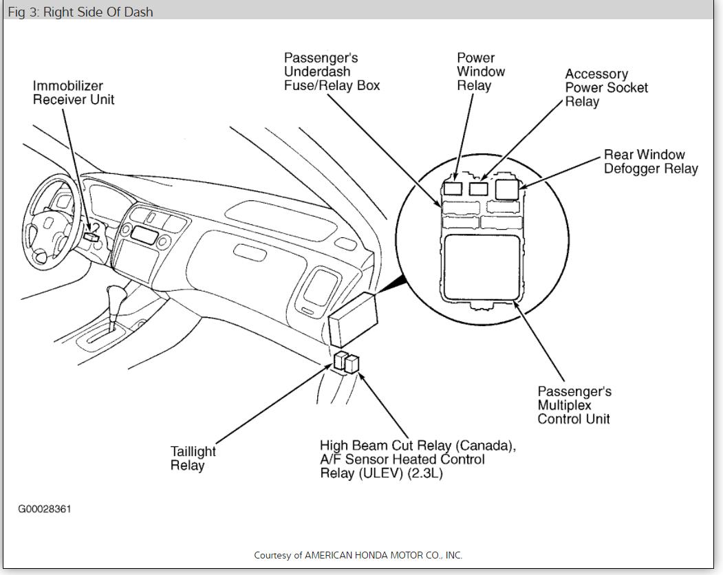 Honda Power Window Diagram