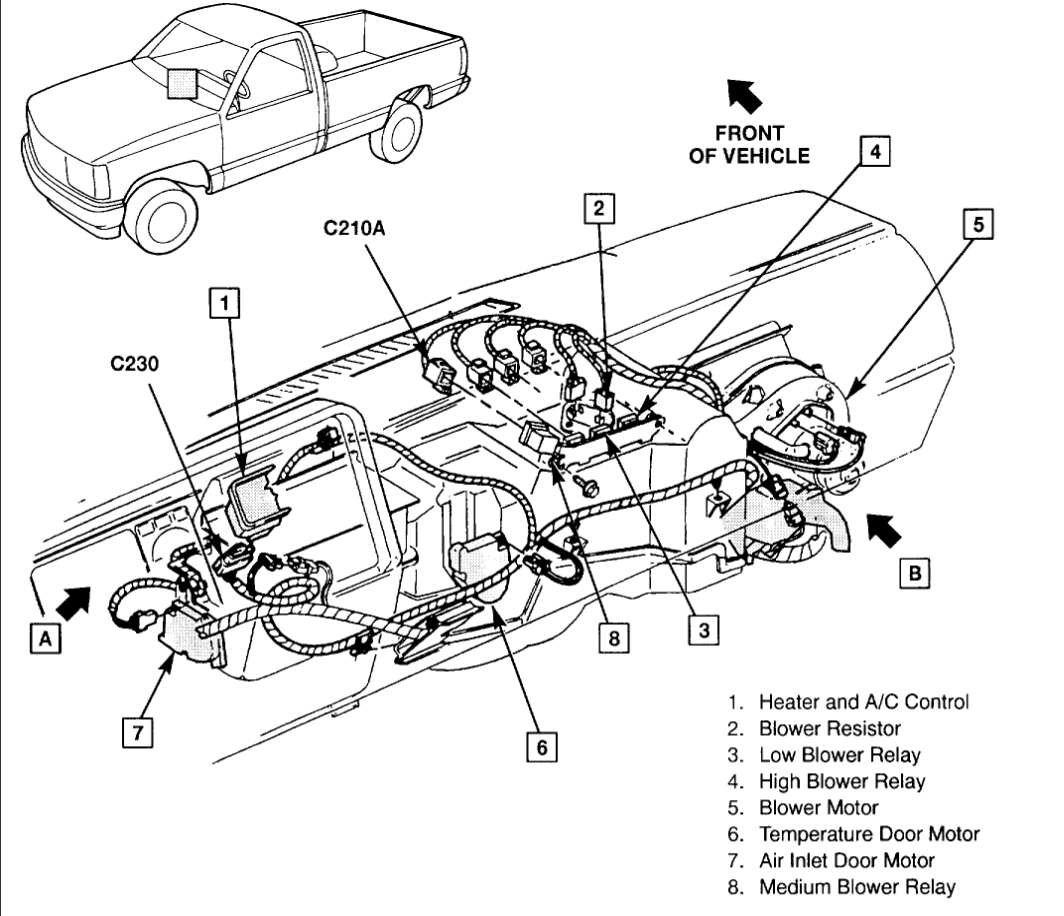 Chevy 4x4 Actuator Diagram