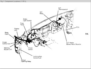 Mazda B2200 Fuse Box Diagram | Wiring Diagram Centre