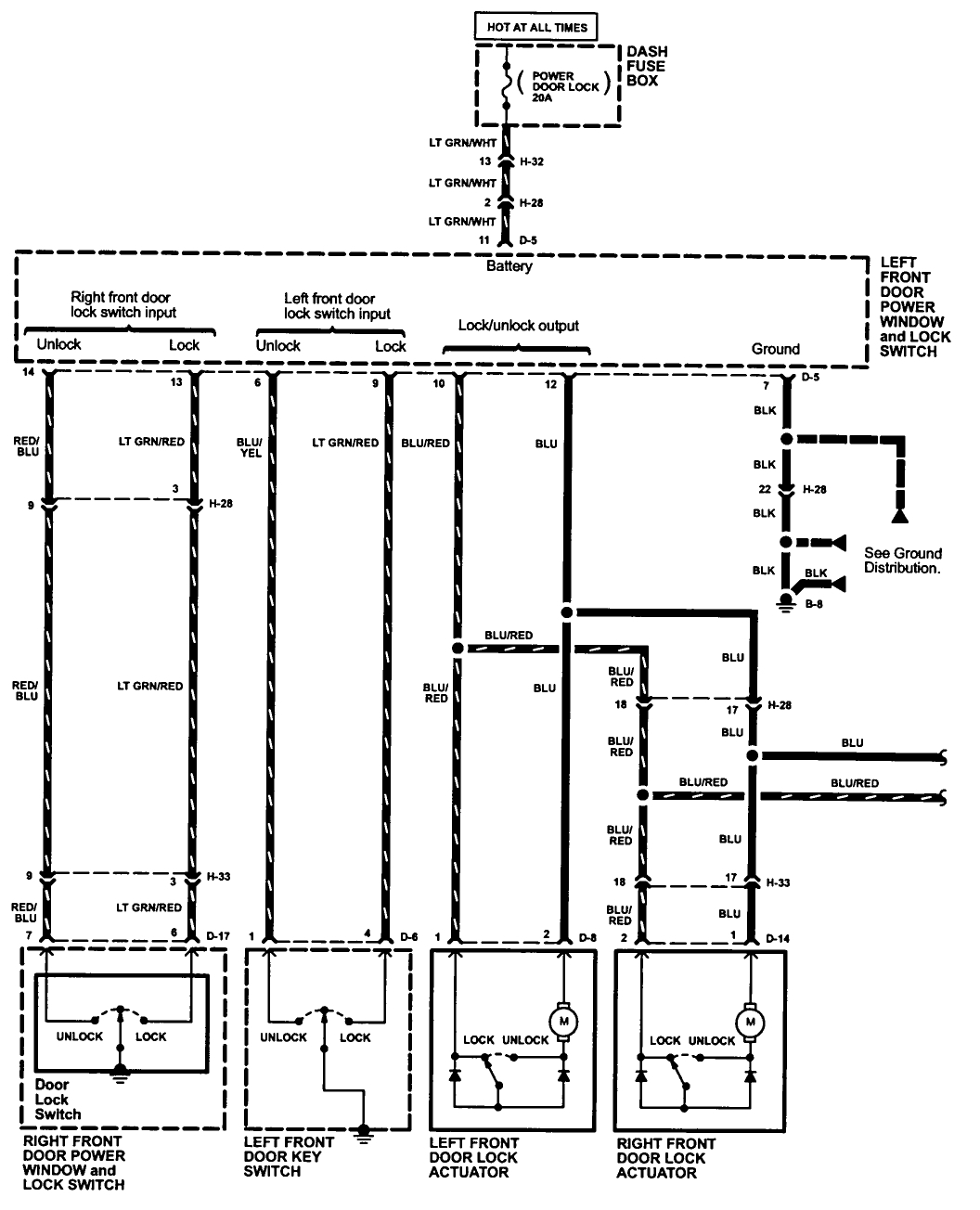 Power Window Master Switch Harness Wiring Diagram