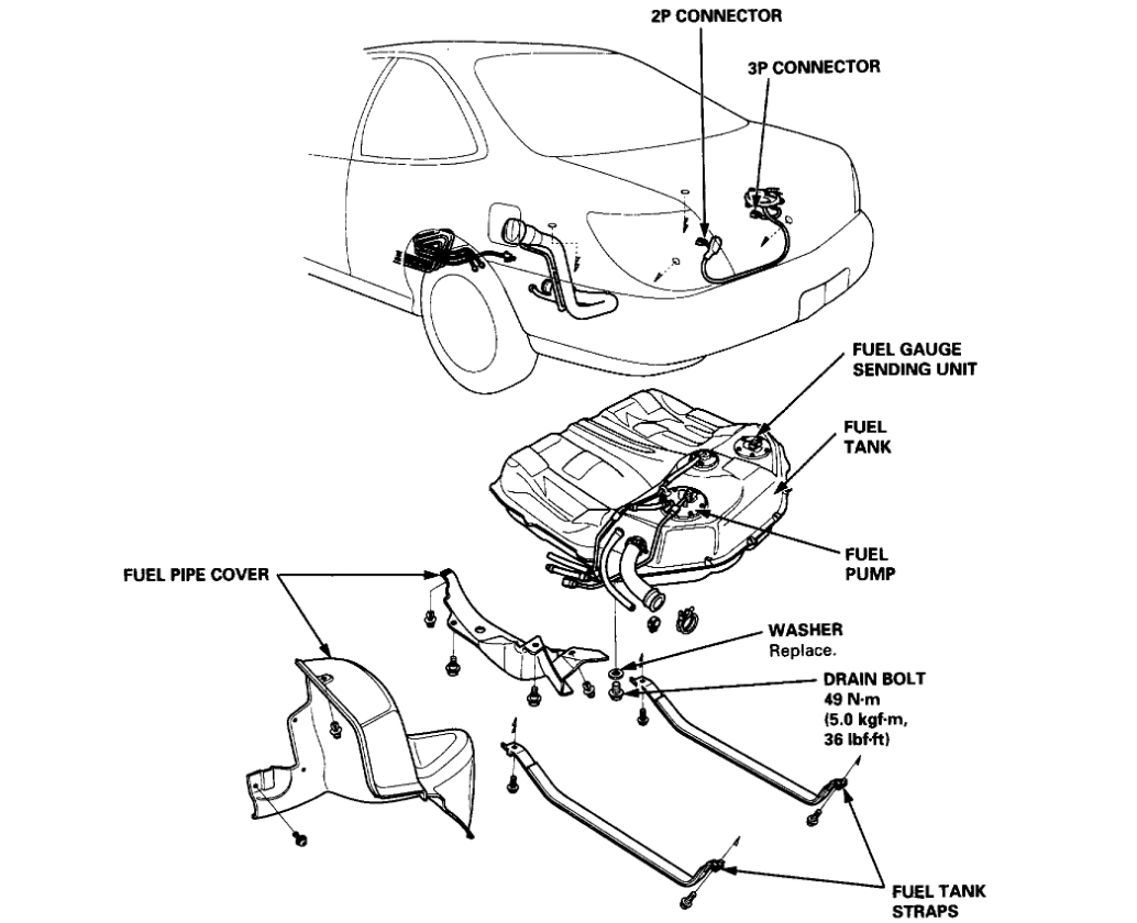 Fuel Pump Location Wiring Schematic Diagram