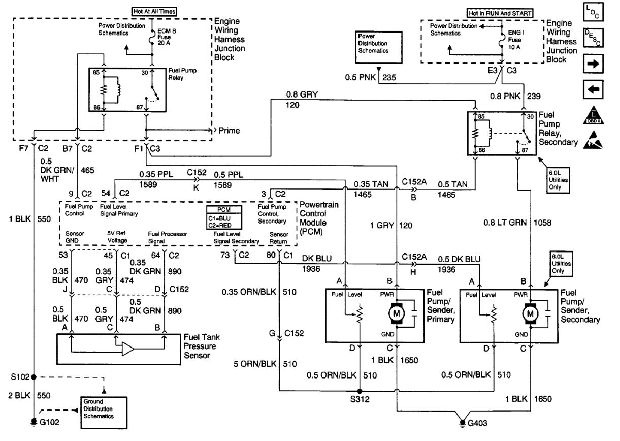 Fuel Pump Wiring Diagram Chevy Silverado