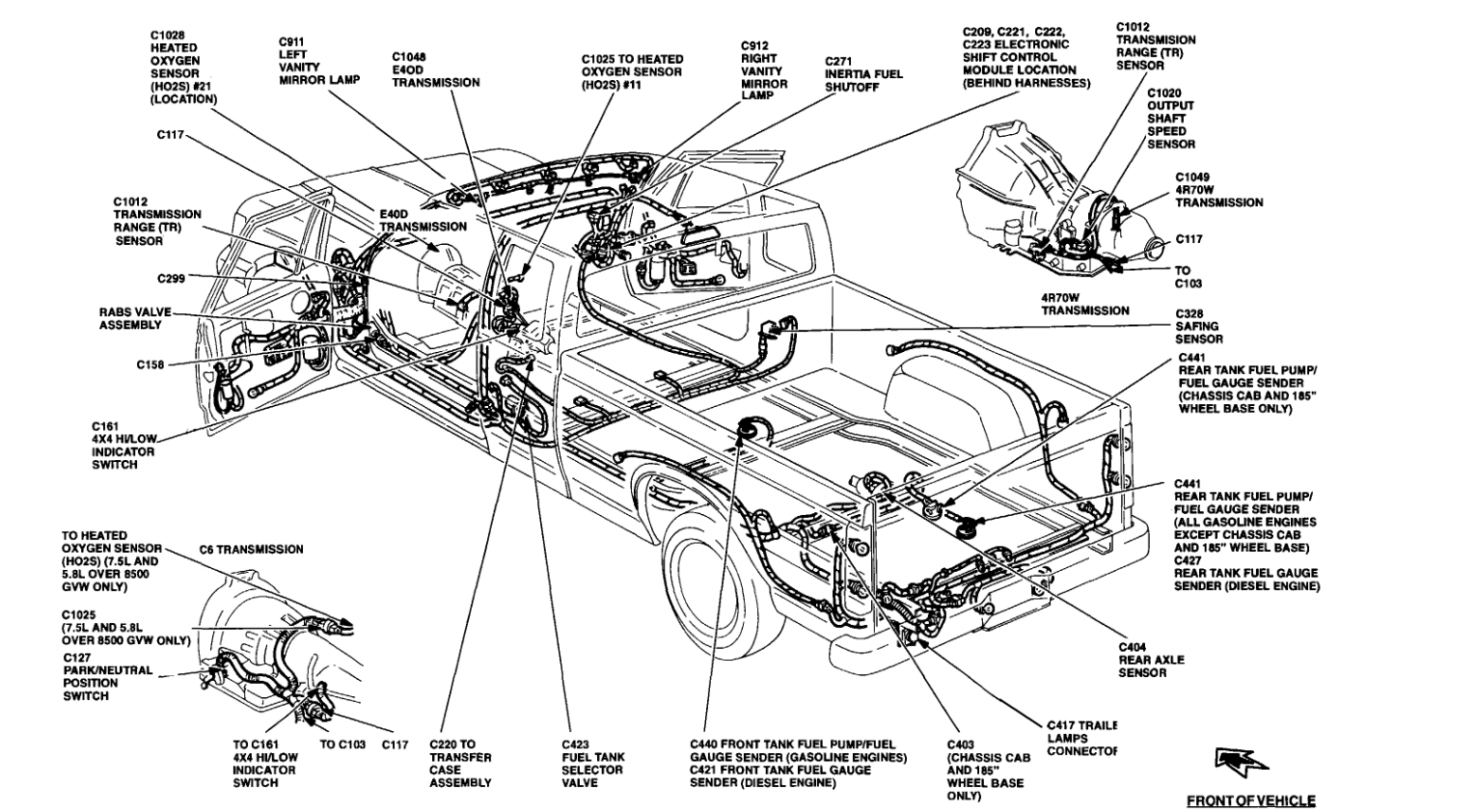 Ford Ranger Exhaust System Diagram