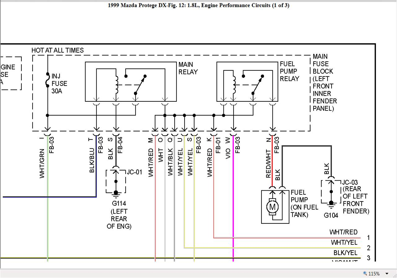 1999 Daewoo Lanos Fuse Box Diagram
