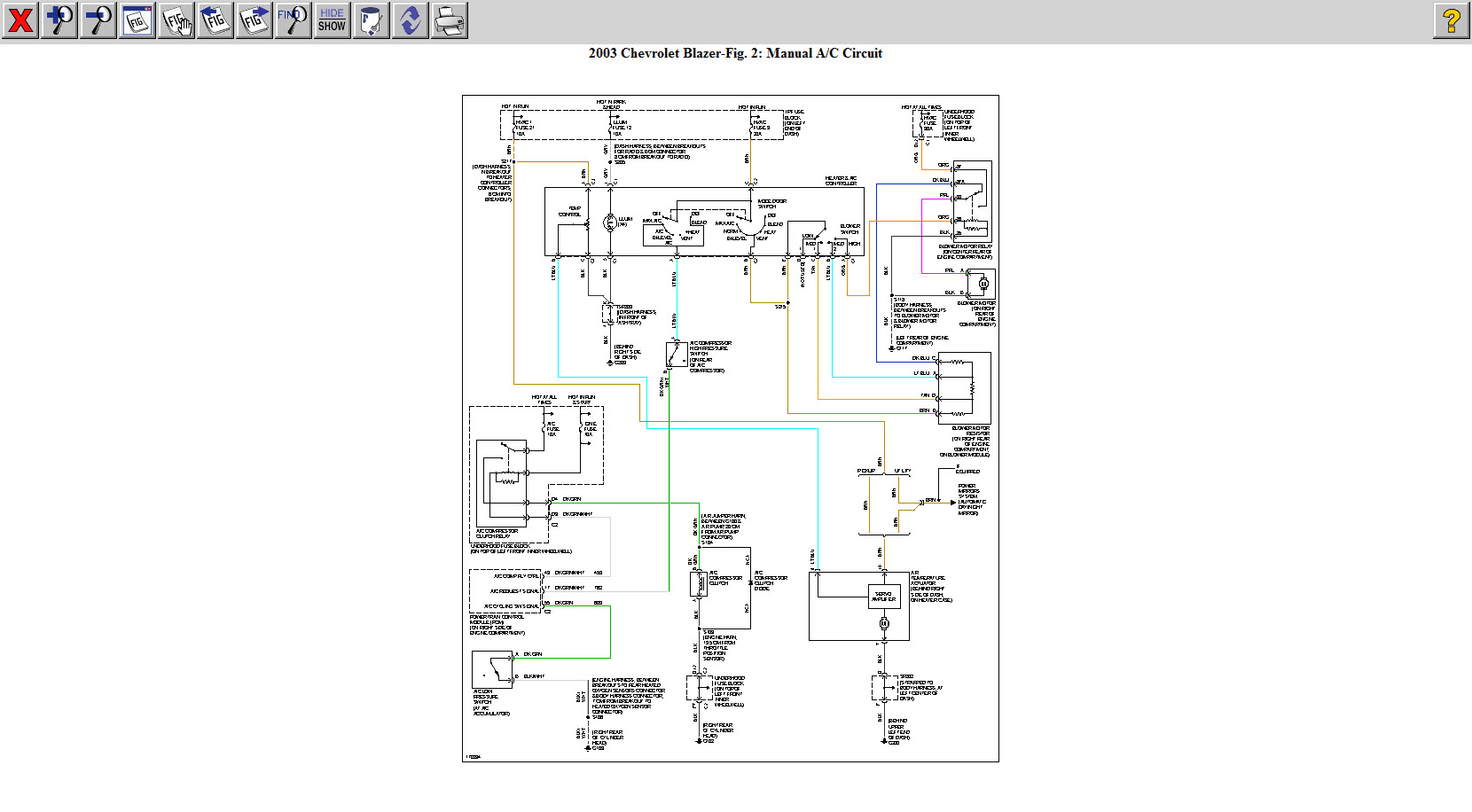 Chevy S10 Air Conditioning System Diagram