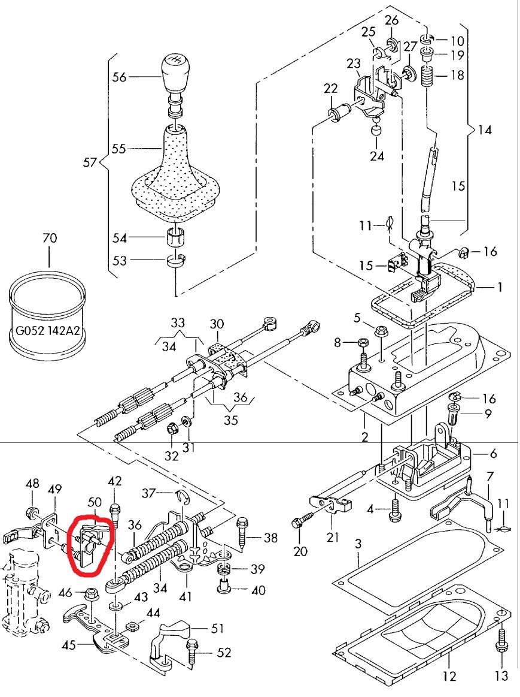 Won t shift into reverse or 5th no power in 1st broken plastic rh 2carpros 2002 vw passat parts diagram 2003 vw beetle parts diagram