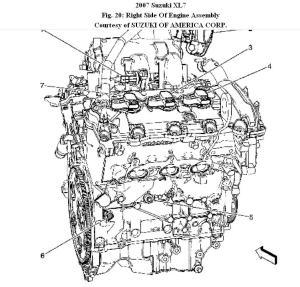 2002 Suzuki Xl7 Engine Parts Diagram | WIRING DIAGRAM