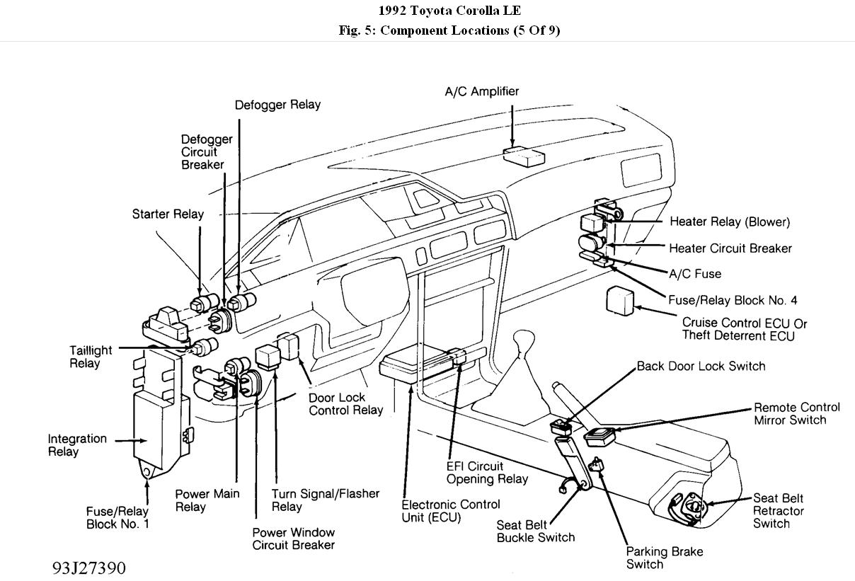 toyota corolla fuse box diagram