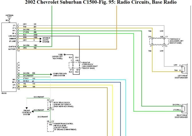 1999 chevy suburban speaker wiring peugeot 106 quiksilver