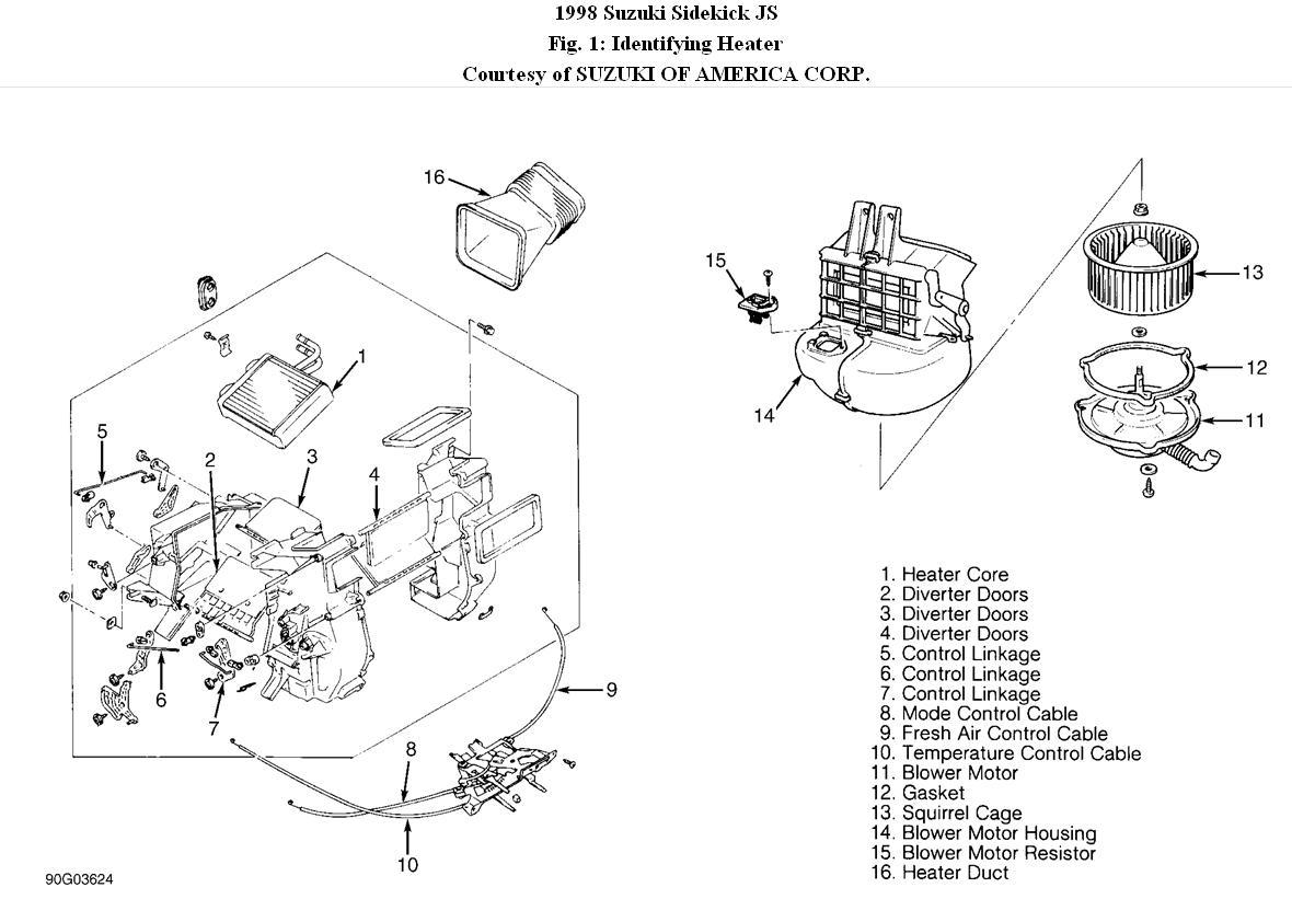 Service Manual Blower Motor Removal On A Suzuki