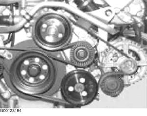 2001 BMW 525i Serpentine Belt Routing and Timing Belt Diagrams