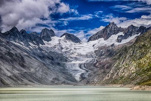 Oberaargletscher Grimselpass See