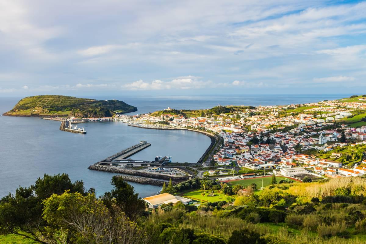 Horta auf der Insel Faial Azoren