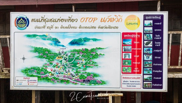Karte Pha Hi Village Chiang Rai