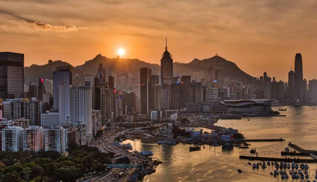 Sonnenuntergang HK