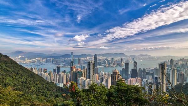 Lugard Road Skylinie Hongkong