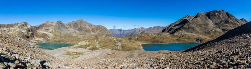 Panorama Jöriseen im Jörital am Flüelapass