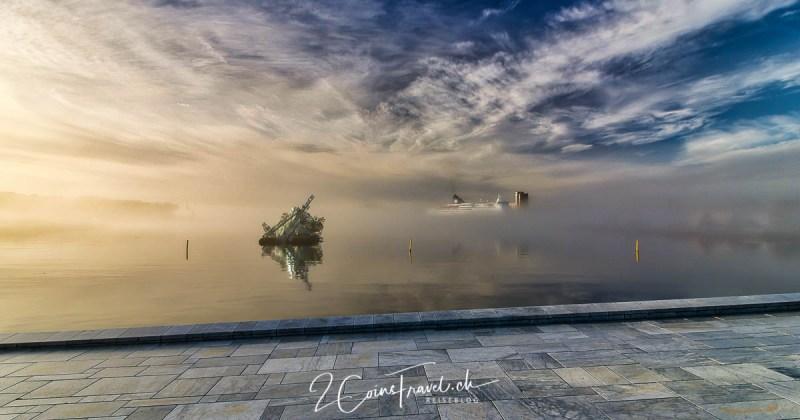 Oslo Hafen im Nebel