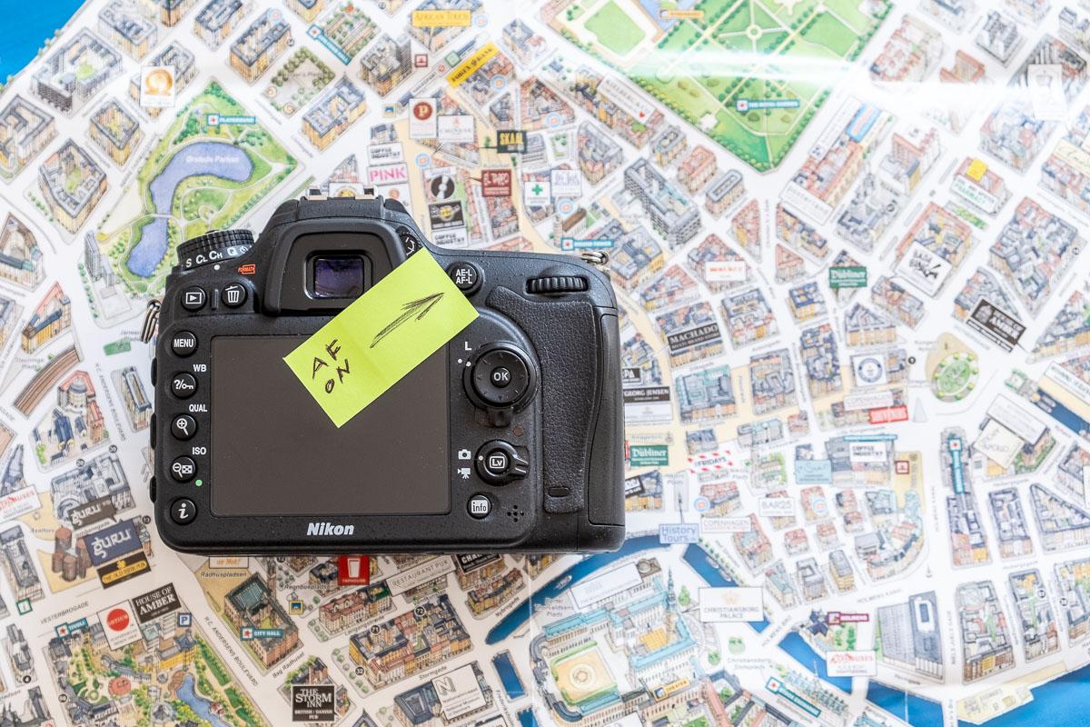 Fotografare con il pulsante AF-ON
