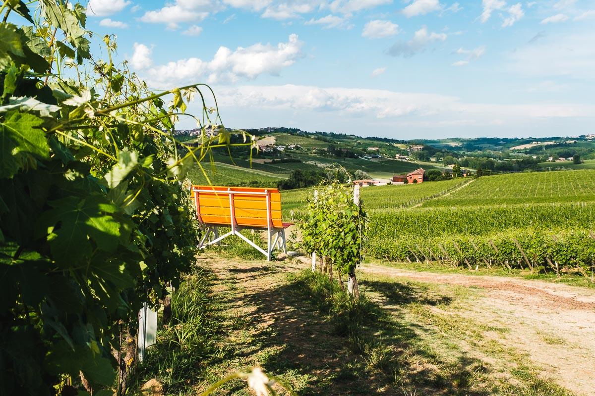 Le più belle panchine giganti in Piemonte
