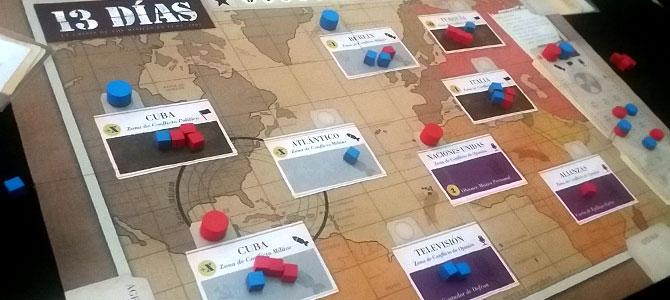 Tablero de 13 días con las zonas de conflicto