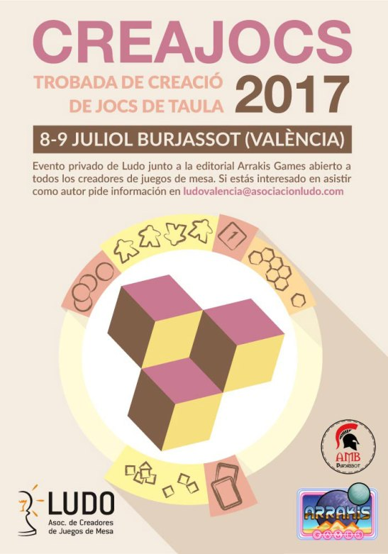 Cartel de Creajocs 2017.