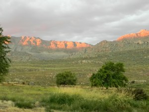 Cederberg sunset on the mountains